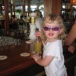 At the lobby bar