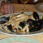 Homemade pasta with Muscles and clams