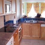 the open kitchen area