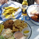 Food at Da Conch Shack (dee-lish!)