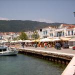 Skiathos town harbour front
