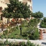 Rear gardens at hotel