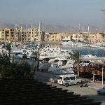 View over Abu Tig Marina at El Gouna