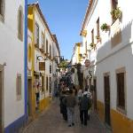 Main shopping street in Obidos