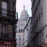 view of Sacre Coeur from Anvers metro (nearest station to hotel)