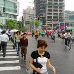 Busy Shanghai intersection