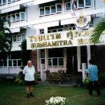 Dave outside the Subhamitra Hotel 2004