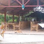 the dining pavilion with open kitchen - heart of the hotel
