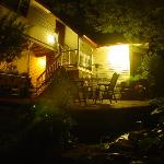 Brava House back deck at night