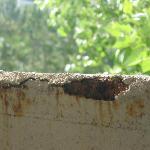 concrete railing falling apart