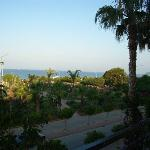 Right view out of Hotel, beautiful gardens before the beach