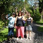 some of our group in the gardens at Baleka