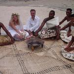 Traditional post-wedding Kava ceremony