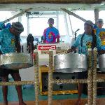 Steel drums on the snorkel/booze cruise!