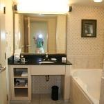 jacuzzi area in suite