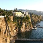 view from Sant Agnello to Sorrento