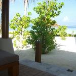 View from verandah beach bungalow