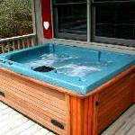 Hot tub at cottage
