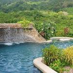 The pool has nice waterfall too