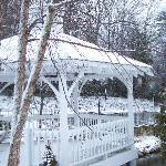 The Gazebo was so pretty with the snow!!