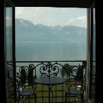 View through balcony door