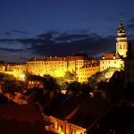 Cesky Krumlov - Castle at night