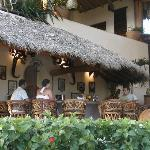 Relaxing at the bar at Las Palmas
