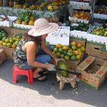 Local farmers' market in Kailua.