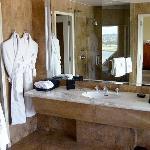 The huge marble bathroom