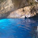 Inside the blue caves