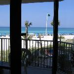 Another beach view from inside our condo