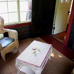 The sweet, cozy porch off of the Saranac room.
