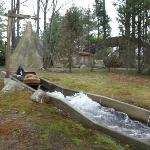 The park has many water attraction from this Classic Flume Designed in house.