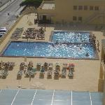 The view of the pool from my room.