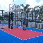 Close up of basketball courts...very nice.