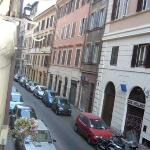 View of via Banchi Vecchi from our room
