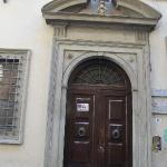 The front door of the house, street is Borgo Degli Albizzi, the oldest street in Florence
