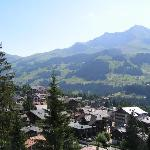 Balcony view of Adelboden valley