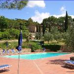 View of Villa Agostoli from pool area