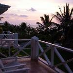 Sunrise on balcony of plantation rm
