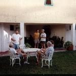 group at ease at Maya  8/00