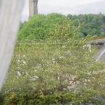view of the Wallace Monument from our window
