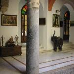 Inside the lobby atrium