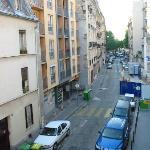 Down street from window