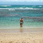Nice warm water on the beach