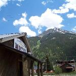Motel with mountains