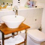 Sleek, clean, modern bathroom
