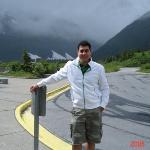 Outside Portage Glacier Visitor Center, Alaska