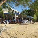 Restaurant right on the beach