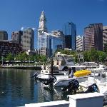 The view from the Boston Yacht Haven.